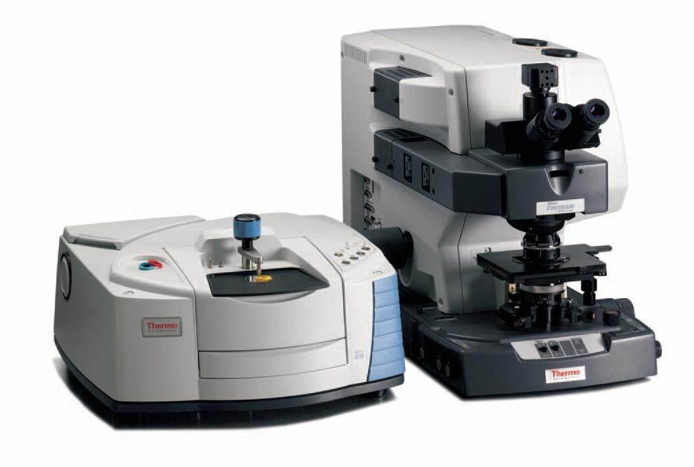 Mikroskop Continuum ve spojení s FT-IR spektrometrem Nicolet iS10